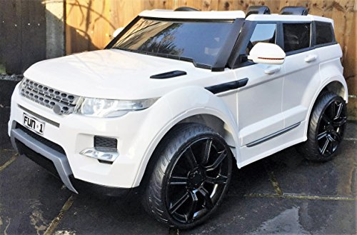 Kids Range Rover HSE Sport Style 12v Electric / Battery Ride on Car Jeep – White includes EVA Tire upgrade