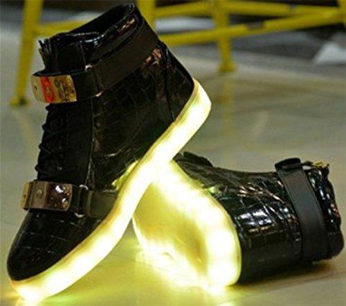 [Présents:petite serviette]JUNGLEST - 7 Couleur Mode Unisexe Homme Femme USB Charge Lumière Lumineux Clignotants Chaussures de marche LED Ch Noir