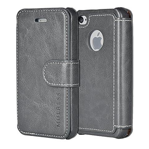 Coque Iphone 4 Cuir - Mulbess Apple iPhone 4s Cover - Étui