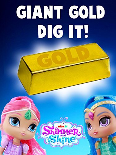 GIANT Super Gold Dig It Boxes with Shimmer and Shine [OV] (Dig-box)
