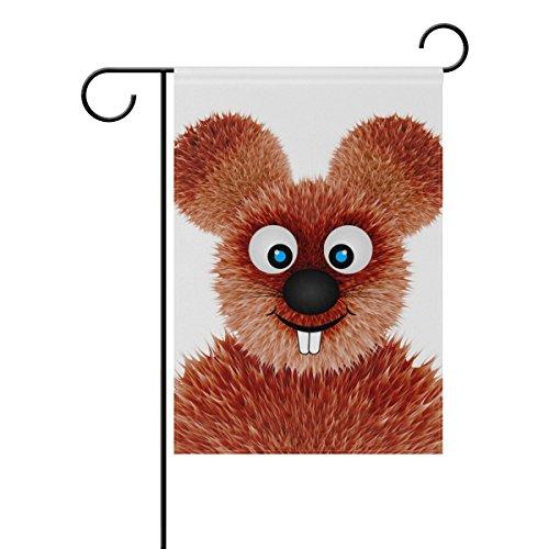ALAZA Lächelnde Ratte Cartoon Dekorative Doppelseitige Garten Flagge