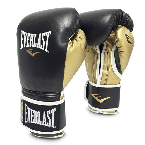 Everlast Power Lock Training Gloves PU Box articolo, Unisex, Powerlock training gloves PU, Nero/Oro, 16 oz