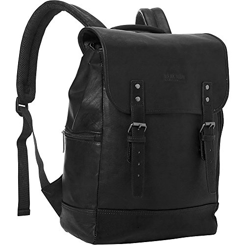 Kenneth Cole Reaction Colombian Leather Single Gusset Flapover Computer Backpack, 14.1