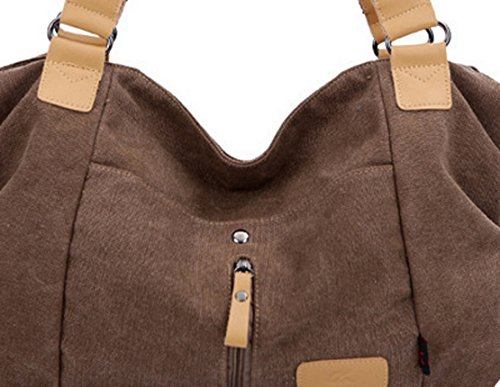 30056bf8619f1 ... Panegy Damen Frauen Casual Tasche Mode Canvas Schultertasche Fashion  Landstreicher Stil Handtasche Für Büro Freizeit Outdoor ...