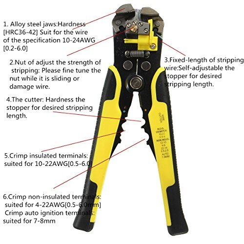 Diskret Kabel Draht Stripper Multifunktionale Abisolieren Zangen Für Elektriker Terminal Schneiden Crimpen Strippen Hand Werkzeug Handwerkzeuge Werkzeuge