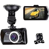 Blusmart HD auto DVR 1080P Videocamera Registratore 3.0 pollici automatico Funzione Video con visione notturna fotocamera posteriore e 16 GB scheda SD Samsung