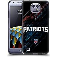 Ufficiale NFL Sfocato New England Patriots Logo Cover Morbida In Gel Per LG X cam