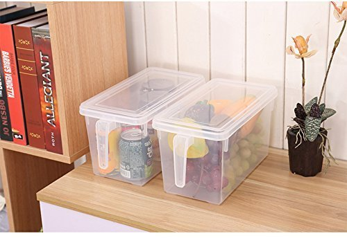 FastUnbox Airtight and Reusable Refrigerator Food Storage Containers with Handles to Cover Fruits and Vegetable(Size:-28 X 13 X 15 cm) (2)