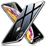 ESR iPhone XS Hülle, iPhone X Hülle Hochwertig Gehärtetes Glas Handyhülle TPU Rahmen [Stoßfest] [Kratzfest] Crystal Clear Durchsichtige Handy Schutzhülle Glashülle für iPhoneXS (5,8 Zoll) - Klar