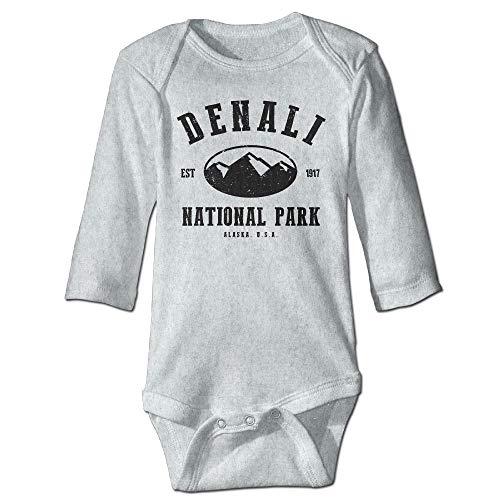 Unisex Newborn Bodysuits Denali National Park Boys Babysuit Long Sleeve Jumpsuit Sunsuit Outfit Ash