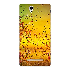 Flying Autumn Leaves Back Case Cover for Sony Xperia C3