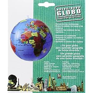 Caly – Esfera del mundo político hinchable, 30 cm, castellano (CAGLOBO30)