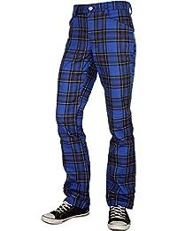 Tartan Pure Classic Style Hose Blau