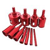 ruick Diamant-Bohrer Kit Löten Core Lochsäge-Set Extractor Remover Tools Lochsägen für Glas, Keramik, Porzellan, Ste