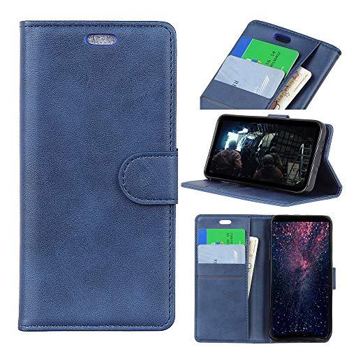 GHC Hüllen & Holster, Für Xiaomi Mi 8 Lite (Xiaomi Mi 8 Youth Edition), High-End-Luxus-Textur aus Rindsleder Flip PU-Lederetui (Farbe : Blau)
