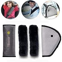 Cinturón acolchado para niños Boonor 4packs, cinturón acolchado de coche, cinturón de hombro, almohada para el coche auto, cinturón de seguridad acolchado
