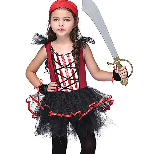 Uleade Baby Girl's Red Punk Piraten Kleinkind Halloween ()