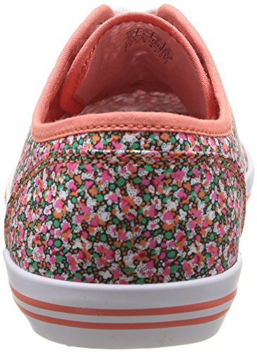 Le Coq Sportif Grandville Cvo W Micro Flowers, Baskets mode femme Orange (Summer Coral)