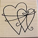 Verschlungene Herzen Stempel, Hochzeit, Liebe, taufe, Karten gestalten