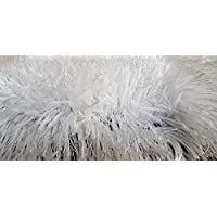 TAUHID CARPET Super Soft Indoor Modern Shag Area Silky Smooth Rugs Fluffy Rugs Anti-Skid Shaggy Area Rug For Dining Room Home Bedroom Carpet 4 x 4 feet Round Shape Carpet Color White.