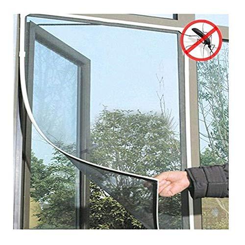 Fenster Moskitonetz Befestigung,Insektenschutz Magnetfenster Rahmen für Fenster Fliegengitter Mückengitter,Insektenschutz Fliegenvorhang Moskitonetz,Moskitonetz für Fenster 150 x 130cm (Weiß) -
