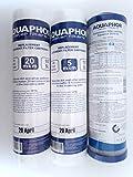Aquaphor Kit da 3 filtri di Ricambio Set 3 filtri 2,5 x 10 '' SL (20 Micron + 5 Micron + Filtro Blocco Carbone) per depuratore Acqua, sistemi osmosi sottotop e filtri sotto-lavandino 10 Pollici