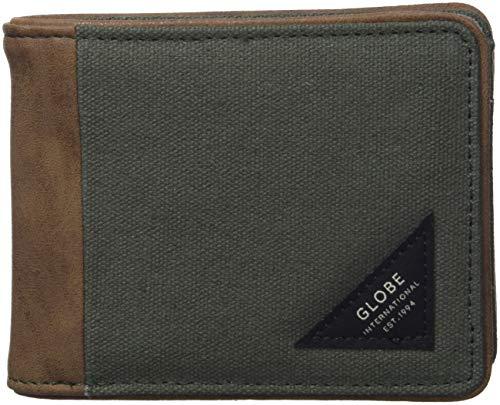 Globe mason wallet, portafoglio unisex-adulto, verde (olive), 5x10x15 centimeters