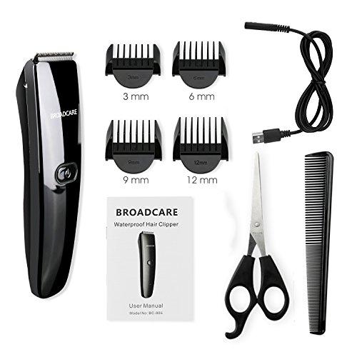 broadcare tondeuse cheveux professionnelle tondeuse barbe electrique homme sans fil. Black Bedroom Furniture Sets. Home Design Ideas