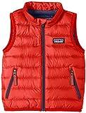 Patagonia Daunenweste Baby Down Sweater - Chaleco para niña, Color Rojo Brillante, Talla DE: 84-91 cm