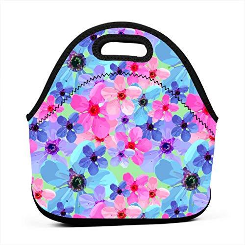Bento Bag portatile multifunzionale di Cherry Blossom Collage I, borsa della scatola di pranzo per l'ufficio di lavoro di viaggio della scuola