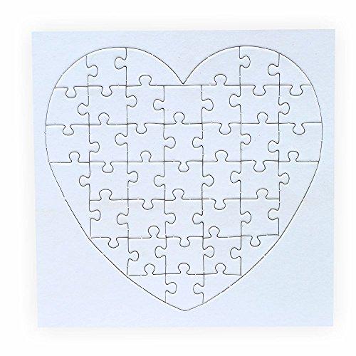 zum bemalen Herz, 40 Teile, 10 Stück, selbst gestalten mit Rahmen ()