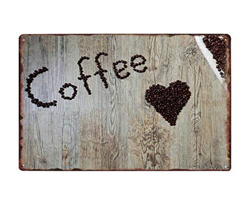 Segno Di Latta Metallo Decorazione Plaqueneue Kaffee Zeichen Retro Blechschilder Souvenir Platte Borden Cafe Dekoration Wandkunst Plaque Metall Vintage Home Decor 20X30 cm (Vintage-kaffee Zeichen)