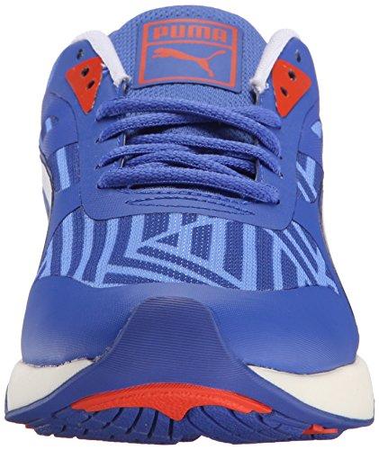 Puma 698 Ignite Stripes Sportstyle Sneaker Dazzling Bl-Wht-Wht