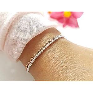 Armkette 925 Silber Roségold Geschenk Frauen
