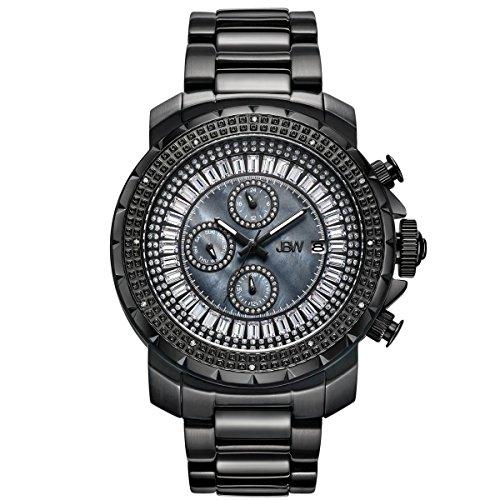 Jbw orologio da uomo con cristalli Swarovski diamante nero