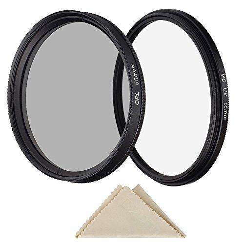 Pasway 55mm MC UV Filter + CPL Polfilter Filter Set, Ultraviolett Schutz Kamera Objektiv Filter f¨¹r Canon Nikon Sony DSLR Kamera Objektiv