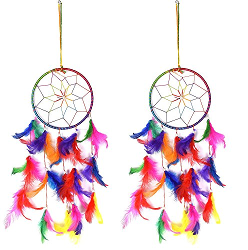 Odishabazaar Multi Dream Catcher Wall Hanging - Attract Positive Dreams Set of 2