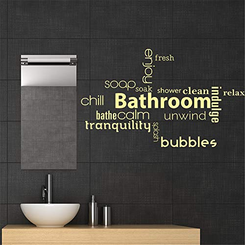 wandaufkleber katze Badezimmer-Wörter wickeln saubere Dusche für Badezimmer-Waschraum ab
