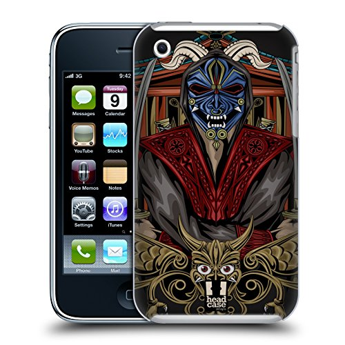 Head Case Designs Shogun Maschera Di Diavolo Giapponese Cover Retro Rigida per Apple iPhone 7 Plus / 8 Plus Ninja