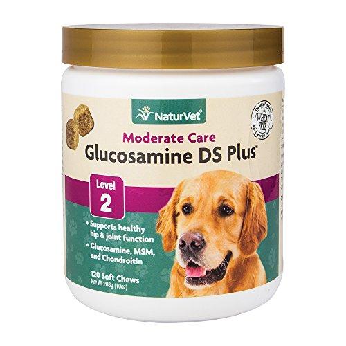 NaturVet Glucosamin DS Plus Level 2Moderate Joint Care für Hunde und Katzen, Soft Kaubonbons, Made in USA