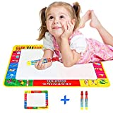 Rangebow Aqua Water Doodle Mat 2 Years Plus Educational Drawing 4 Colours with Doodle Magic Pen with Animal, Alphabet and Numbers 390mm x 290mm