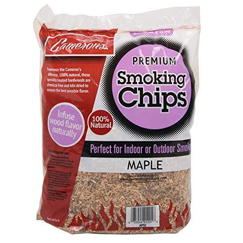 Camerons Masc Fumeur (Maple) Séché au Four, 100% Bois Extra Fin, copeaux de Barbecue, Naturels de 5,1 kg