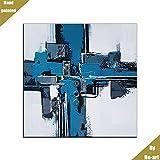 Peintures abstraites Bleues de Style Industriel Moderne Wall Art pour Livingroom...