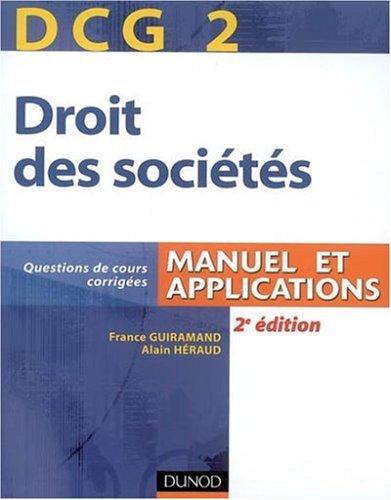 Droit des sociétés DCG2 : Manuel et applications