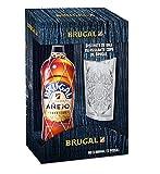 Brugal Añejo Pack con Botella de Ron y Vaso - 700ml