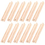 BIGJIGS RAIL Holzschienen Gerade 21,5cm (Pack von 12)