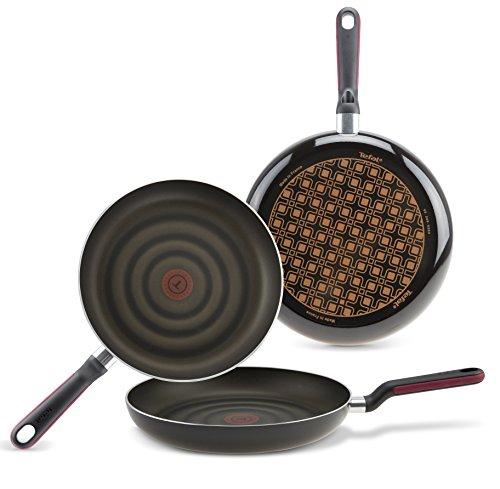 Tefal Comfort Grip - Set de 3 Sartenes de Aluminio de 20, 24 y 28 cm con Exterior Negro esmaltado, Antiadherente con Extra de Titanio, para Todo Tipo de cocinas (Excepto inducción)