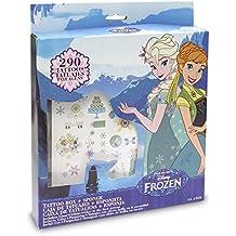 Frozen - Premium Tattoos, set de joyería y maquillaje (Toy Partner 675404)