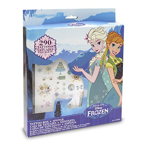 Frozen - Premium Tattoos, set de joyería y maquillaje (Toy Partner)