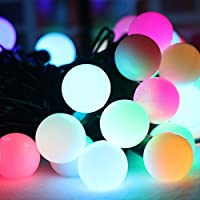 CHEE MONG Fairy Decorative Waterproof Durable String Lights 50 LED Copper Wire Lights for Halloween,Chirstmas,Party,Xmas Tree,Home,Bistro,Indoor and Outdoor,Wedding,Lawn,Garden,Holiday (Rainbow)